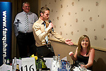 St Johnstone FC Players Awards Night...01.05.11  Lovatt Hotel Perth..Chris Millar sings happy birthday to a fan.Picture by Graeme Hart..Copyright Perthshire Picture Agency.Tel: 01738 623350  Mobile: 07990 594431