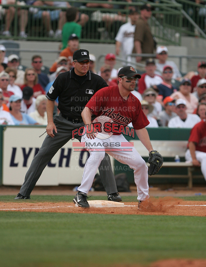 MLB Umpire Angel Hernandez during a Houston Astros vs. Florida Marlins game March 15th, 2007 at Osceola County Stadium in Kissimmee, FL during Spring Training action.  Photo By Mike Janes/Four Seam Images