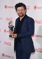 LAS VEGAS, NV - March 27: CinemaCon Vanguard Award winner Andy Serkis at the CinemaCon Big Screen Achievement Awards on March 27, 2014 in Las Vegas, Nevada. © Kabik/ Starlitepics