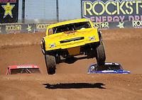 Mar. 18, 2011; Chandler, AZ, USA;  LOORRS pro 4 unlimited driver Jerry Daugherty during qualifying for round one at Firebird International Raceway. Mandatory Credit: Mark J. Rebilas-