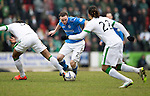 St Johnstone v Celtic.....14.02.15<br /> Chris Kane is tripped by Virgil van Dijk<br /> Picture by Graeme Hart.<br /> Copyright Perthshire Picture Agency<br /> Tel: 01738 623350  Mobile: 07990 594431
