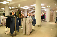 A deserted Marks & Spencer store on Oxford Street. The deserted streets and shops show the severe effects of the COVID-19 epidemic on London on the morning of 19th March 2020