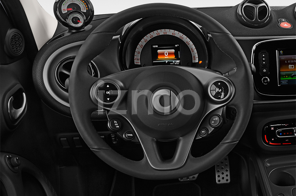 Car pictures of steering wheel view of a 2018 Smart forfour Passion 5 Door Hatchback