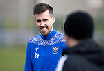 St Johnstone Training....30.04.21<br />Callum Booth talking with manager Callum Davidson during training at McDiarmid Park ahead of tomorrows game at Hibs.<br />Picture by Graeme Hart.<br />Copyright Perthshire Picture Agency<br />Tel: 01738 623350  Mobile: 07990 594431