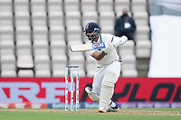 Ajinkya Rahane, India' drives through the covers during India vs New Zealand, ICC World Test Championship Final Cricket at The Hampshire Bowl on 19th June 2021