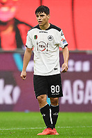 Kevin Agudelo<br /> Serie A football match between AC Milan and Spezia Calcio at San Siro Stadium in Milano  (Italy), October 4th, 2020. Photo Image Sport / Insidefoto