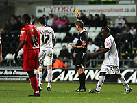 Pictured: Owain Tudur Jones of Swansea City <br /> Re: Carling Cup Round Four, Swansea City Football Club v Watford at the Liberty Stadium, Swansea, south Wales, Tuesday 11 November 2008.<br /> Picture by Dimitrios Legakis Photography (Athena Picture Agency), Swansea, 07815441513