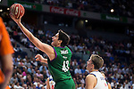 Real Madrid's player Luka Doncic and Unicaja Malaga's player Carlos Suarez during match of Liga Endesa at Barclaycard Center in Madrid. September 30, Spain. 2016. (ALTERPHOTOS/BorjaB.Hojas)