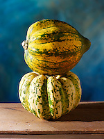 Whole green & yellow pumpkins