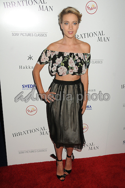 """9 July 2015 - Beverly Hills, California - Meredith Hagner. """"Irrational Man"""" Los Angeles Premiere held at the WGA Theatre. Photo Credit: Byron Purvis/AdMedia"""