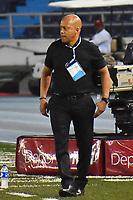 BARRANQUILLA- COLOMBIA, 24-03-2019:Luis Fernando Herrera director técnico del Atlético Huila contra el  Atlético Junior  durante partido por la fecha 11 de La Liga Aguila I 2019 ,jugado en el estadio Metropolitano Roberto Meléndez de la ciudad de Barranquilla / Luis Fernando Herrera coach  of Atletico Huila  agaisnt of  Atletico Junior during match for the date 11 as part Aguila League I 2019 between Atletico Junior and  Atletico Huila played at Metropolitano Roberto Melendez  stadium in Barranquilla city.  Photo: VizzorImage /Alfonso Cervantes / Contribuidor