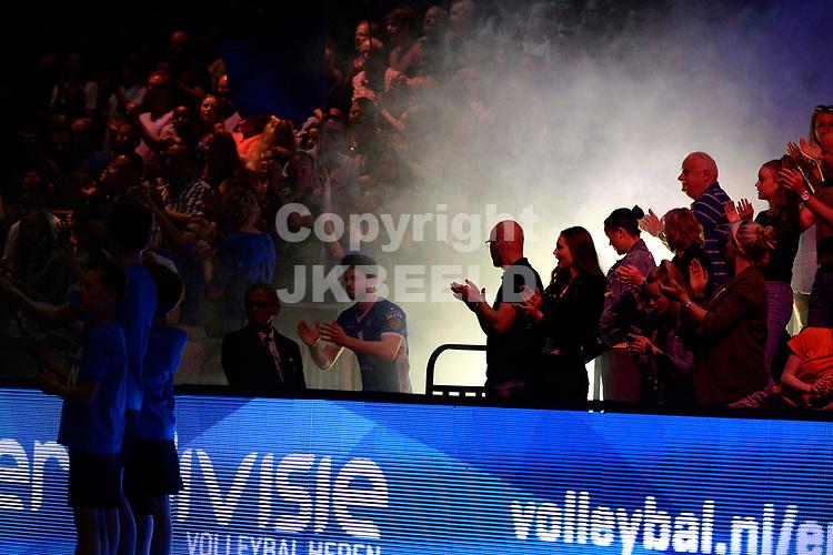 GRONINGEN - Volleybal, Abiant Lycurgus - Orion, Martiniplaza , Eredivisie finale playoff 5, seizoen 2017-2018, 06-05-2018 opkomst spelers Lycurgus