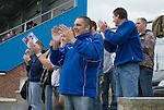 Whitby fans celebrating their teams first goal. Whitby Town 3 Shildon 2, FA CUP 1st Round Qualifying, 15th September 2007.