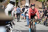 Yukiya Arashiro (JPN/Bahrain - Victorious) coming back down from the finish<br /> <br /> 104th Giro d'Italia 2021 (2.UWT)<br /> Stage 19 from Abbiategrasso to Alpe di Mera (Valsesia)(176km)<br /> <br /> ©kramon