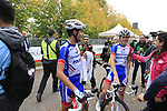 Groupama-FDJ team mates delighted for winner Thibaut Pinot (FRA) at the end of the 99th edition of Milan-Turin 2018, running 200km from Magenta Milan to Superga Basilica Turin, Italy. 10th October 2018.<br /> Picture: Eoin Clarke | Cyclefile<br /> <br /> <br /> All photos usage must carry mandatory copyright credit (© Cyclefile | Eoin Clarke)