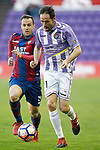 Real Valladolid's Michel Herrero (r) and Levante UD's Paco Montanes during La Liga Second Division match. March 11,2017. (ALTERPHOTOS/Acero)