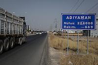 L'entrée de la ville. Adiyaman compte désormais 224 000 habitants.