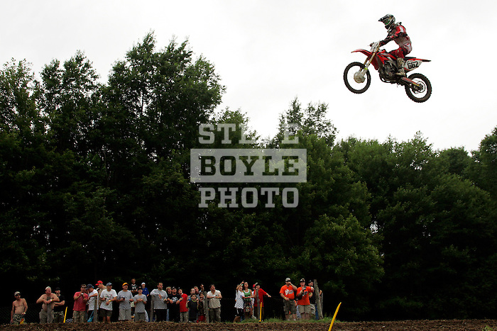Travis Bannister (662) practices on the course at the Unadilla Valley Sports Center in New Berlin, New York on July 15, 2006, during the AMA Toyota Motocross Championship.