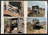 BNPS.co.uk (01202) 558833. <br /> Pic: H&HAuctioneers/BNPS<br /> <br /> Pictured: The truck as it was discovered. <br /> <br /> A Citroen truck that is believed to have been used by the French Resistance during World War Two has sold for almost £9,000.<br /> <br /> The vehicle was converted from a 1924 Citroen B12-9cv Camionnette car and driven by rebels fighting the Nazi occupation of France.<br /> <br /> It has a symbol of the movement painted on one of the doors, as well as the letters 'FFI', standing for French Forces of the Interior.<br /> <br /> The motor was previously discovered among brambles on a French vineyard by a British tourist in the 1990s in a terrible state of disrepair