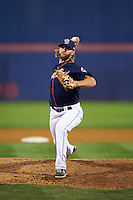 Binghamton Mets pitcher Jeff Walters (15) delivers a pitch during a game against the Trenton Thunder on August 8, 2015 at NYSEG Stadium in Binghamton, New York.  Trenton defeated Binghamton 4-2.  (Mike Janes/Four Seam Images)