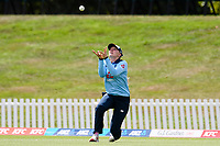 23rd February 2021, Christchurch, New Zealand;  Sarah Glenn of England catches out Sophie Devine of New Zealand off the bowling of Nat Sciver of England during the 1st ODI Cricket match, New Zealand versus England, Hagley Oval, Christchurch, New Zealand