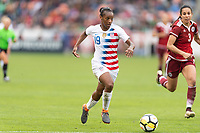 Houston, TX - Sunday April 08, 2018: Crystal Dunn during an International Friendly soccer match between the USWNT and Mexico at BBVA Compass Stadium.