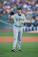 El Paso Chihuahuas starting pitcher Jerry Keel (44) during the game against the Salt Lake Bees at Smith's Ballpark on August 13, 2018 in Salt Lake City, Utah. Salt Lake defeated El Paso 4-3. (Stephen Smith/Four Seam Images)