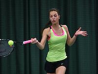 Rotterdam, The Netherlands, 07.03.2014. NOJK ,National Indoor Juniors Championships of 2014, Sem Wensveen (NED)<br /> Photo:Tennisimages/Henk Koster