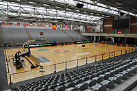 inside sports hall Lange Munte pictured before a basketball game between the national teams of Belgium , called the Belgian Cats , and Serbia on Friday 28 th of May 2021 in Kortrijk , Belgium . PHOTO SPORTPIX.BE | SPP | STIJN AUDOOREN