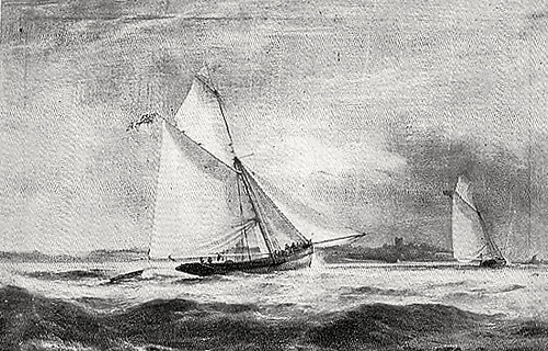 Corsair as she was rigged when cruised to Italy in 1833-1835