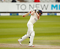 28th May 2021; Emirates Old Trafford, Manchester, Lancashire, England; County Championship Cricket, Lancashire versus Yorkshire, Day 2; Luke Wells of Lancashire hits out on his way to a half century