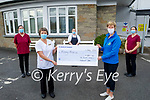 The staff of the Bons Securs hospital present a cheque for €1137.50 to Palliative Care at the hospital on Tuesday. Front l to r: Lil Hanafin and Maura O'Sullivan (Kerry Hospice). Back l to r: Cecila O'Neill, Liz Griffin and Katie O'Neill