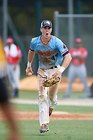 Zachary Leischner (49) during the WWBA World Championship at the Roger Dean Complex on October 10, 2019 in Jupiter, Florida.  Zachary Leischner attends Whitewater High School in Brooks, GA and is Uncommitted.  (Mike Janes/Four Seam Images)