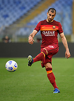 Football, Serie A: AS Roma - Atalanta Olympic stadium, Rome, April 22, 2021. <br /> Roma's Heinrikh Mkhitaryan in action during the Italian Serie A football match between AS Roma and Atalanta at Rome's Olympic stadium, Rome, on April 22, 2021.  <br /> UPDATE IMAGES PRESS/Isabella Bonotto