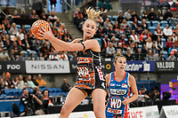 6th June 2021; Ken Rosewall Arena, Sydney, New South Wales, Australia; Australian Suncorp Super Netball, New South Wales, NSW Swifts versus Giants Netball; Maddie Hay of the Giants Netball catches the ball