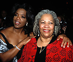 Oprah Winfrey and Toni Morrison attending The BELOVED Movie Premiere at the Ziegfield Theatre, New York City.<br />October 8, 1998