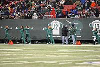 Auftritt New York Jets Flight Team<br /> New York Jets vs. Kansas City Chiefs<br /> *** Local Caption *** Foto ist honorarpflichtig! zzgl. gesetzl. MwSt. Auf Anfrage in hoeherer Qualitaet/Aufloesung. Belegexemplar an: Marc Schueler, Am Ziegelfalltor 4, 64625 Bensheim, Tel. +49 (0) 6251 86 96 134, www.gameday-mediaservices.de. Email: marc.schueler@gameday-mediaservices.de, Bankverbindung: Volksbank Bergstrasse, Kto.: 151297, BLZ: 50960101