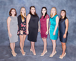 March 12, 2017- Tuscola, IL- The 2017 Miss Tuscola candidates. From left are Ashley Mattingly, Miah Holmes, Hanna Summers, Caitlyn Dellorso, Sabrina Alcorn, and Myli Samples. [Photo: Rachel Ray]