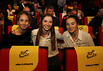 Cecilie Uttrup Ludwig (DEN), Evita Muzic and Jade Wiel (FRA) at the Tour de France 2020 route presentation held in the Palais des Congrès de Paris (Porte Maillot), Paris, France. 15th October 2019.<br /> Picture: ASO/Thomas Colpaert | Cyclefile<br /> <br /> All photos usage must carry mandatory copyright credit (© Cyclefile | ASO/Thomas Colpaert)