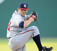 LHP Chris Masters (32) of the Rome Braves, Class A affiliate of the Atlanta Braves, in a game against the Greenville Drive April 13, 2010, at Fluor Field at the West End in Greenville, S.C. He was named to the 2010 South Atlantic League All-Star team. Photo by: Tom Priddy/Four Seam Images