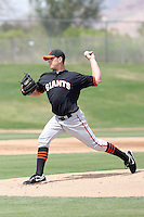 Eric Surkamp, San Francisco Giants 2010 minor league spring training..Photo by:  Bill Mitchell/Four Seam Images.