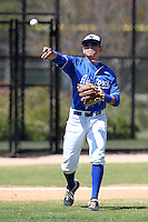 Air Force Falcons Matt Thorne #7 during a game vs the Bradley Braves at Chain of Lakes Park in Winter Haven, Florida;  March 12, 2011.  Bradley defeated Air Force 6-0.  Photo By Mike Janes/Four Seam Images