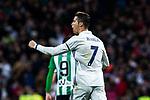 Cristiano Ronaldo of Real Madrid celebrates after scoring a goal during the match of Spanish La Liga between Real Madrid and Real Betis at  Santiago Bernabeu Stadium in Madrid, Spain. March 12, 2017. (ALTERPHOTOS / Rodrigo Jimenez)