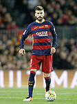 FC Barcelona's Gerard Pique during La Liga match. April 2,2016. (ALTERPHOTOS/Acero)