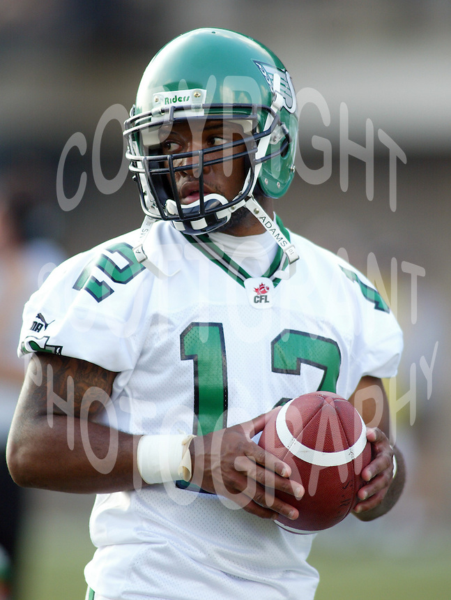 Rocky Butler Saskatchewan Roughriders 2003. Photo Scott Grant