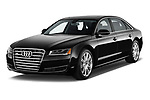 2017 Audi A8 3.0T LWB quattro tiptronic 4 Door Sedan angular front stock photos of front three quarter view