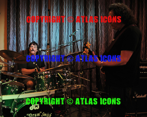 FORT LAUDERDALE FL - MARCH 04 : Carmine Appice and Steve Price perform at Rips Sports Bar and Grill on March 4, 2016 in Fort Lauderdale, Florida. : Credit Larry Marano © 2016