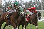 July 05, 2014:  Madame Giry (MD) with jockey Edgar Prado on board wins the Bob Umphrey Turf Sprint Stakes at Gulfstream Park in Hallandale Beach FL. Liz Lamont/ESW/CSM