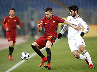 Football Soccer: UEFA Champions League AS Roma vs Qarabag FK Stadio Olimpico Rome, Italy, December 5, 2017. <br /> Roma's Stephan El Shaarawy (l) in action with Qarabag's Mahir Madatov (r) during the Uefa Champions League football soccer match between AS Roma and Qarabag FK at at Rome's Olympic stadium, December 05, 2017.<br /> UPDATE IMAGES PRESS/Isabella Bonotto