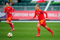 Jessica Fishlock of Wales Women's in action during the UEFA Women's EURO 2022 Qualifier match between Wales Women and Faroe Islands Women at Rodney Parade in Newport, Wales, UK. Thursday 22 October 2020